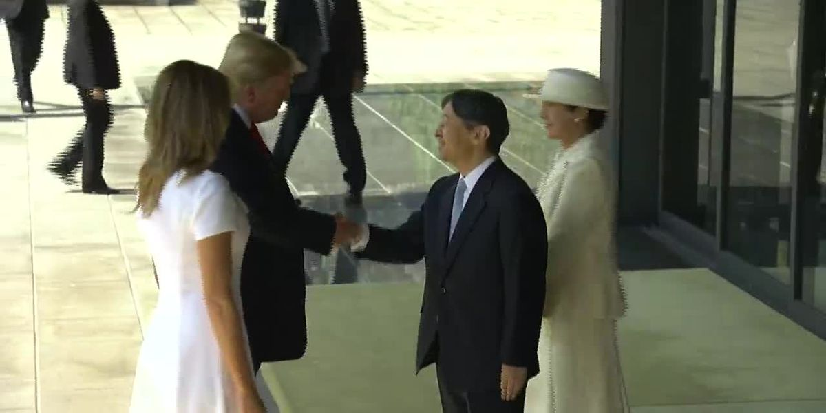 Trump is first head of state to meet Japan's new emperor