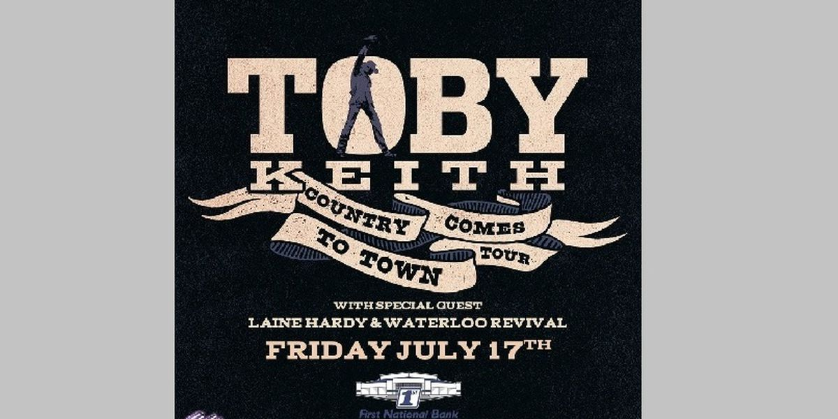 Toby Keith is coming to town