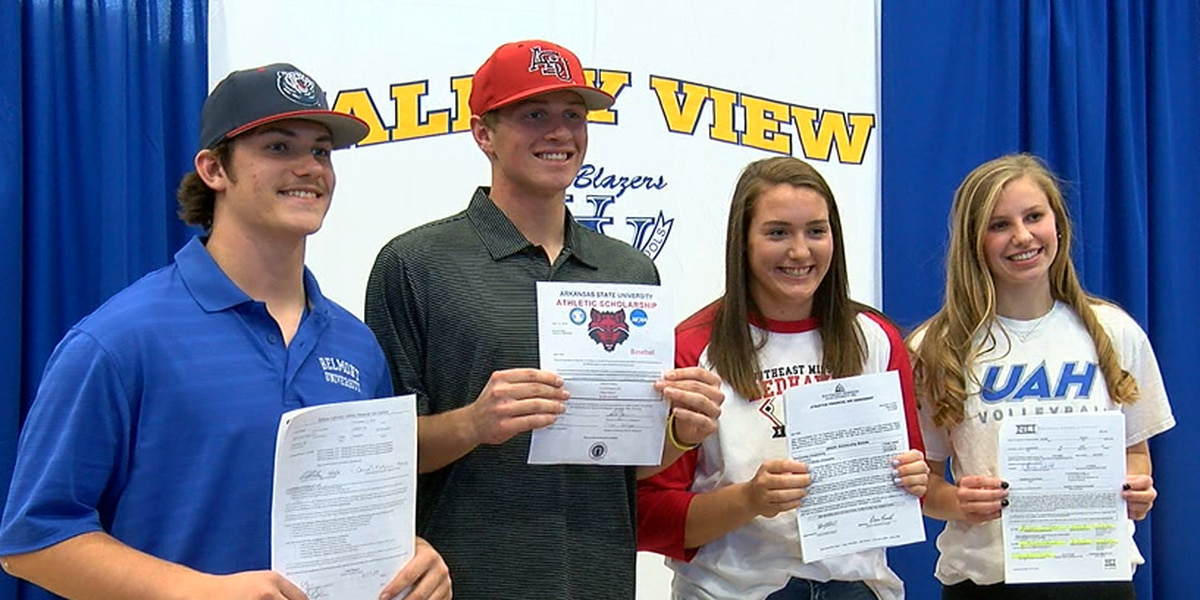 Four Blazers put pen to paper Wednesday at Valley View Signing Day