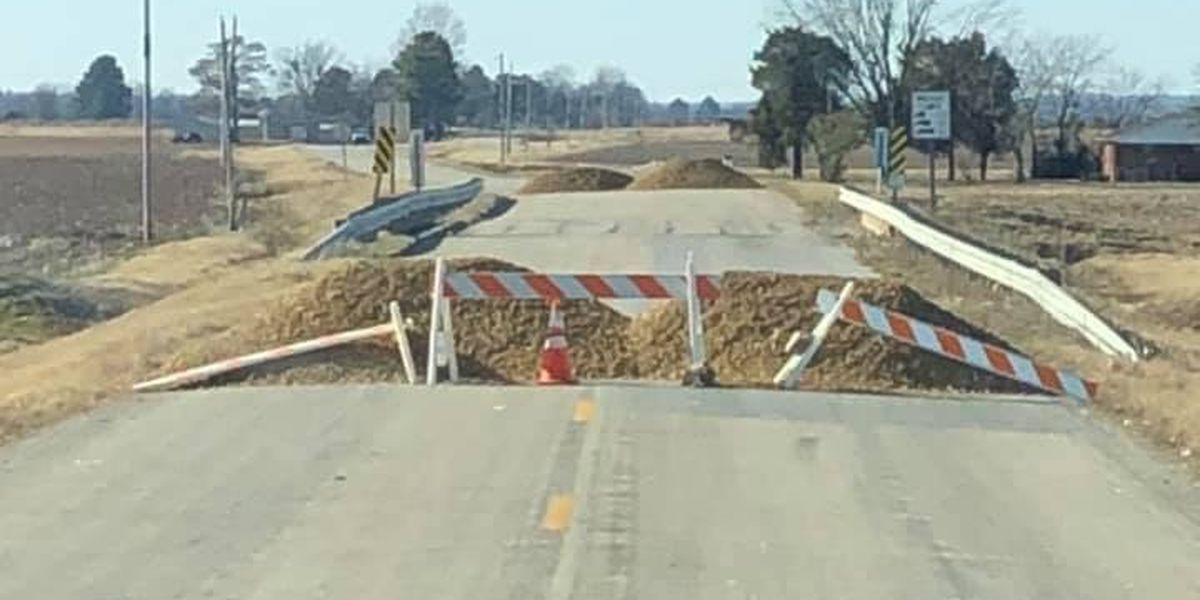 Highway 139 bridge in Clay County closed