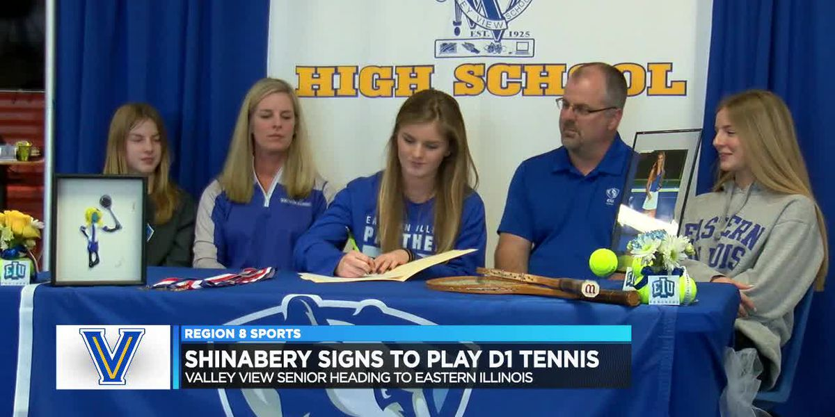 Valley View All-State tennis standout Ashlee Shinabery signs with Eastern Illinois