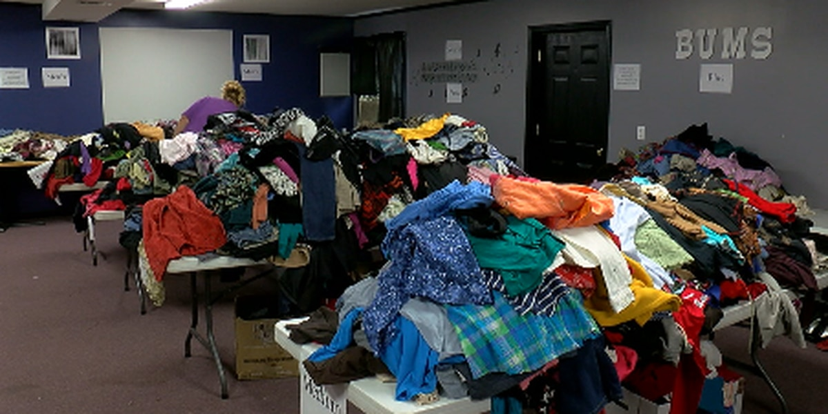 Brookland United Methodist Church hosts clothing giveaway