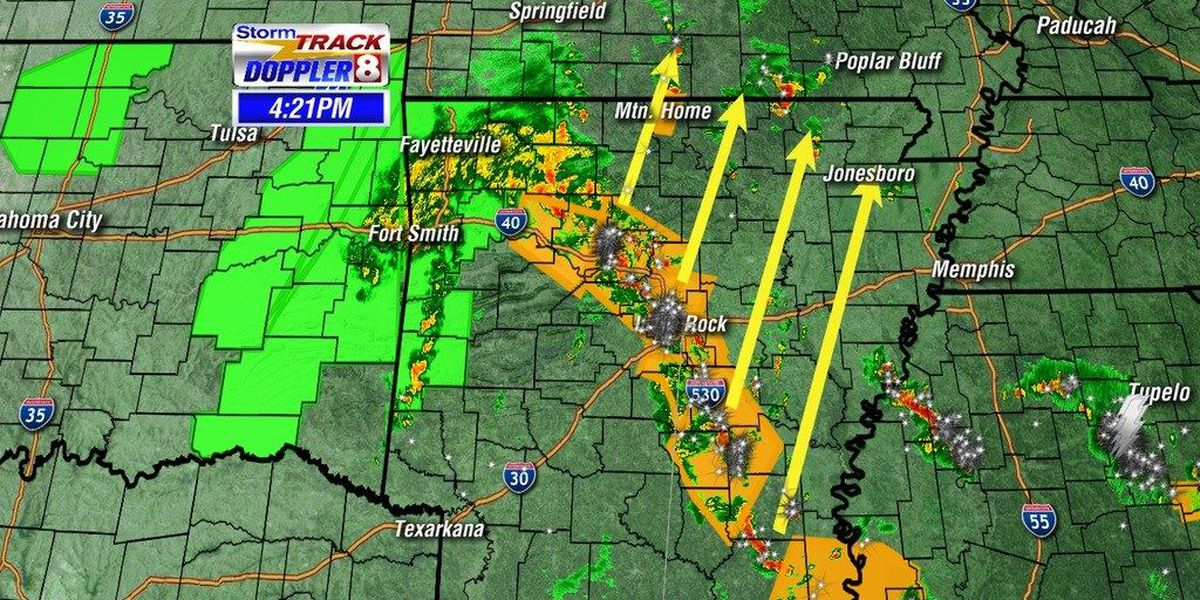 Strong storms moving through Region 8 Memorial Day Weekend