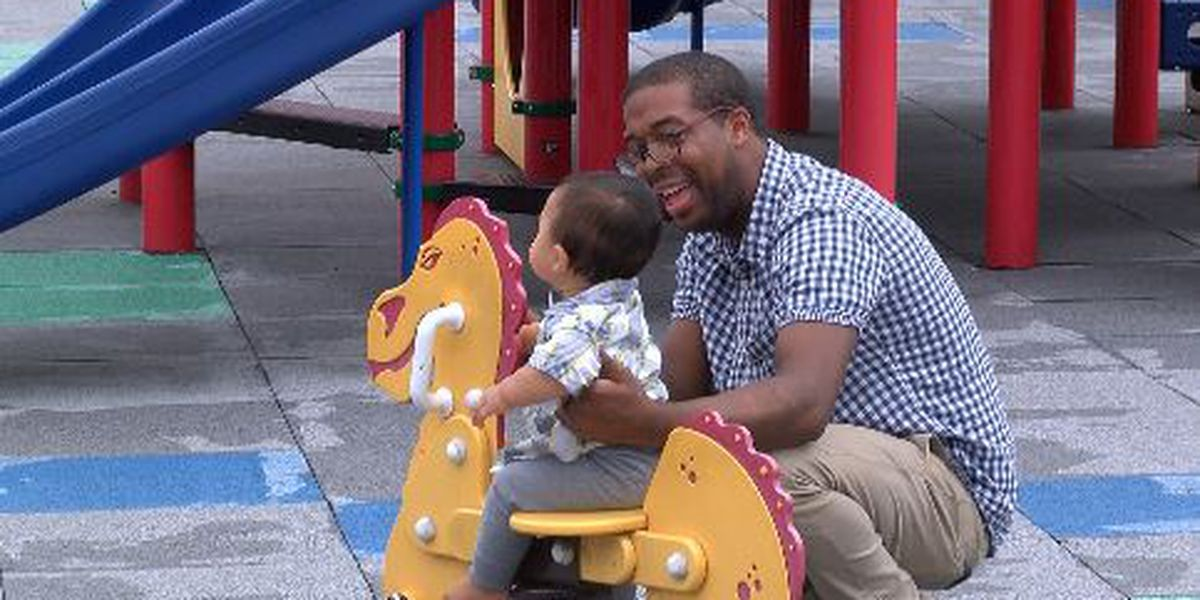 Dads celebrate Father's Day with family