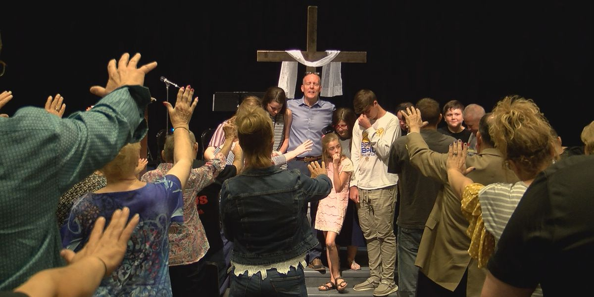 Scott City church holds service despite devastating fire