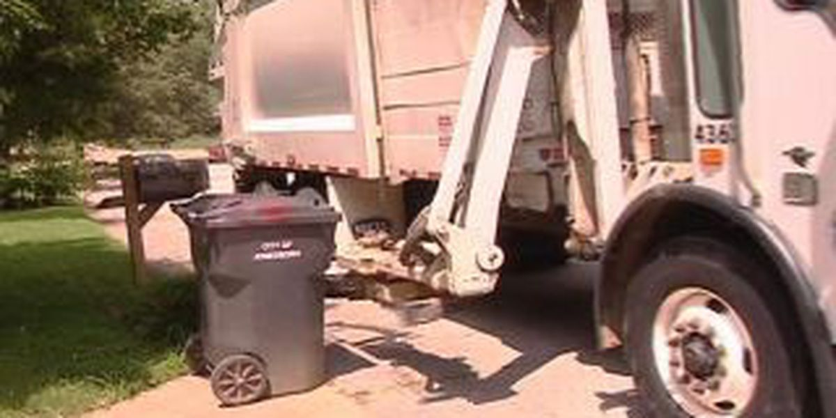 Memorial Day to affect trash pickup