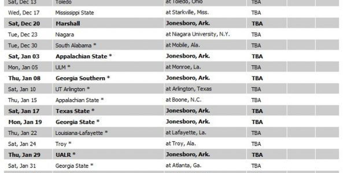 A-State Men's Basketball releases 2014-15 non-conference schedule