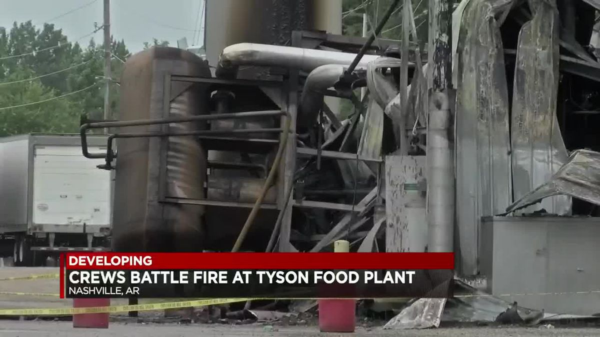 Officials investigating fire at Tyson plant
