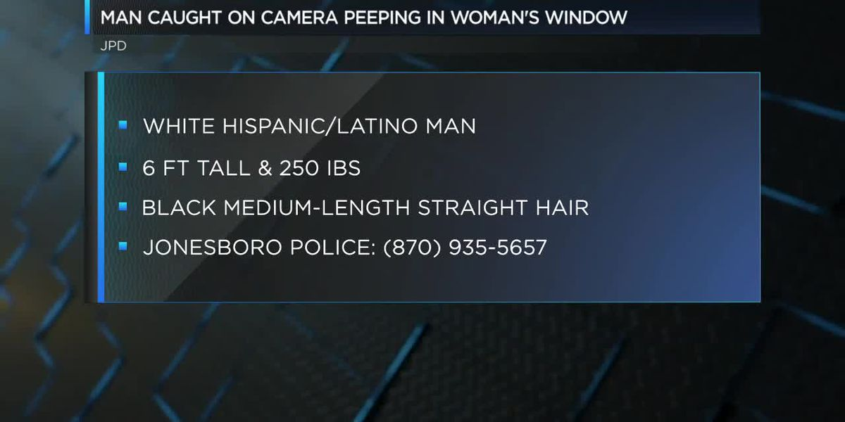 Creeper caught on camera peeping in woman's window