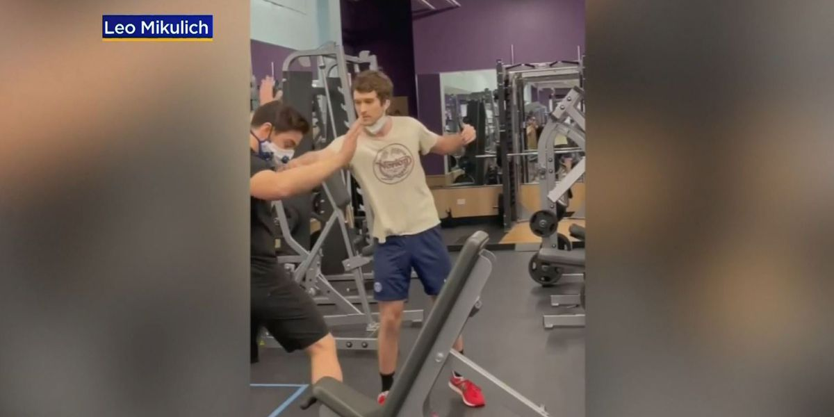 Video shows gym customer shoving trainer in dispute over mask policy