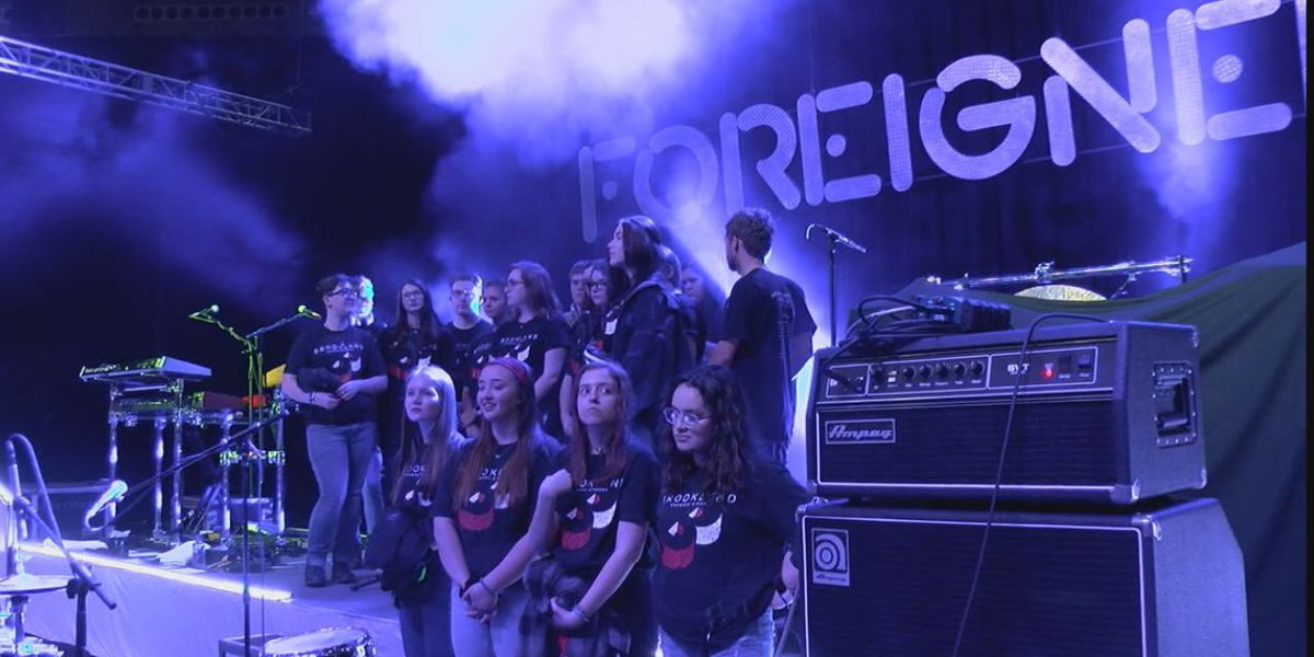 Local school choir hits big stage with legendary rock band