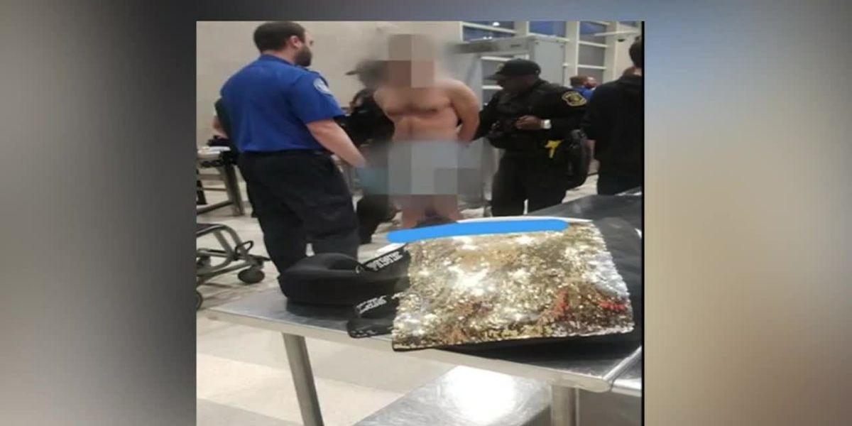 Naked man causes brief disruption at Detroit Metro airport