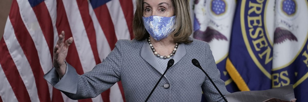 Pelosi, Trump administration trade blame over virus aid