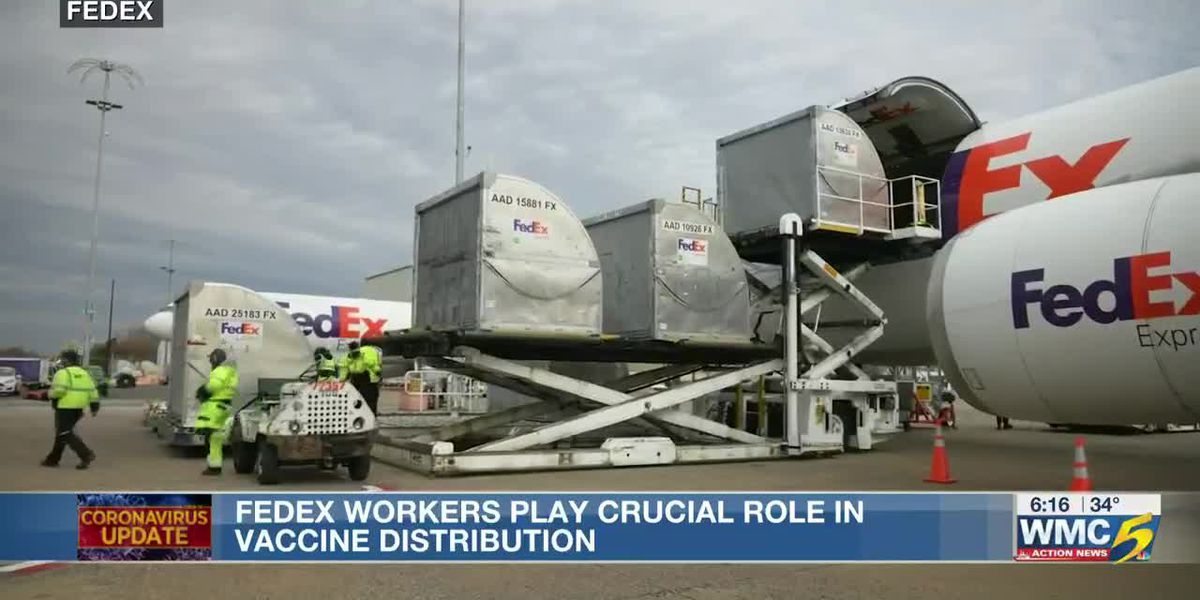 FedEx employee makes history being first to deliver vaccine