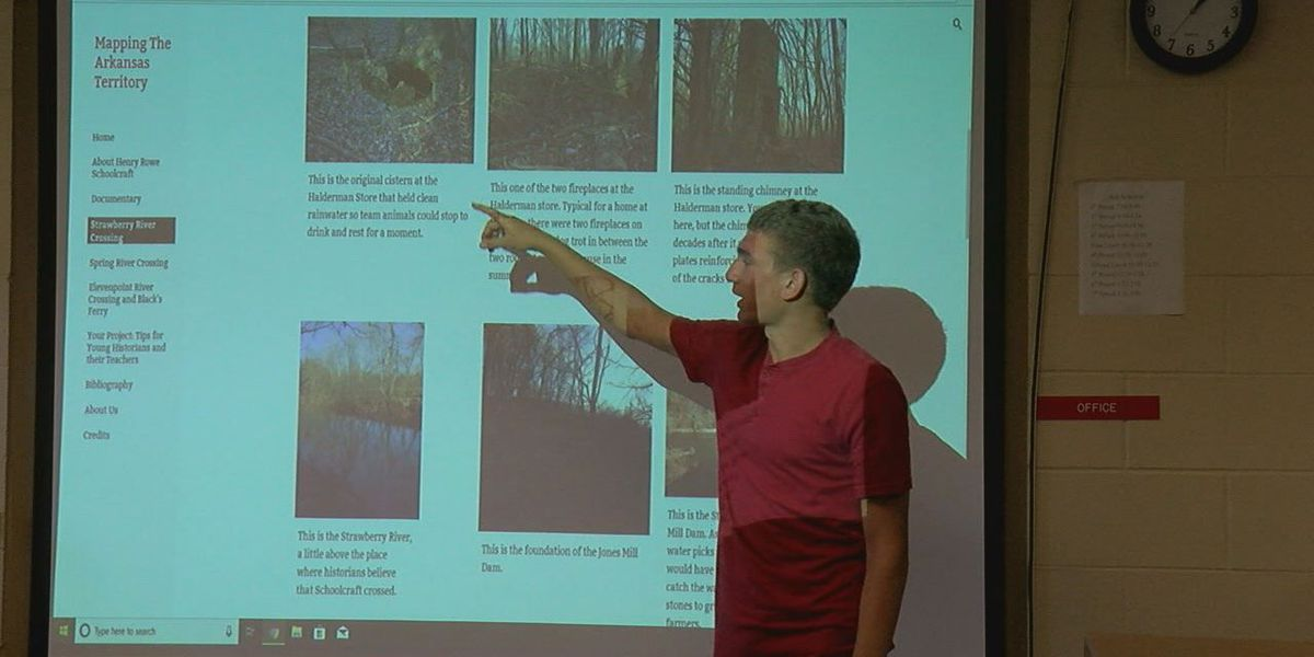 Students map out early Arkansas explorer's path