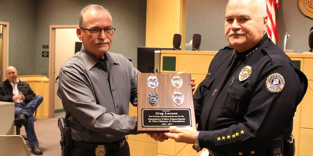 JPD celebrates officer's years of service