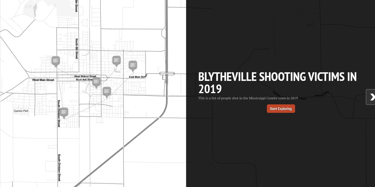 MAP: Blytheville shooting victims in 2019