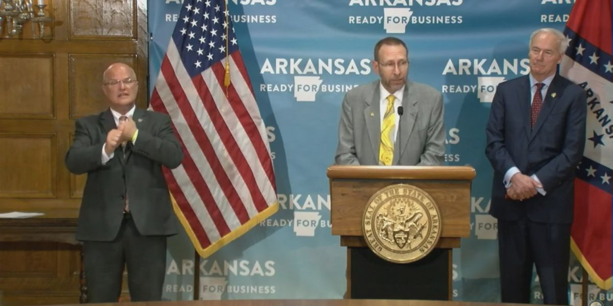 Gov. Hutchinson, Dr. Nate Smith address hazards of protesting during pandemic