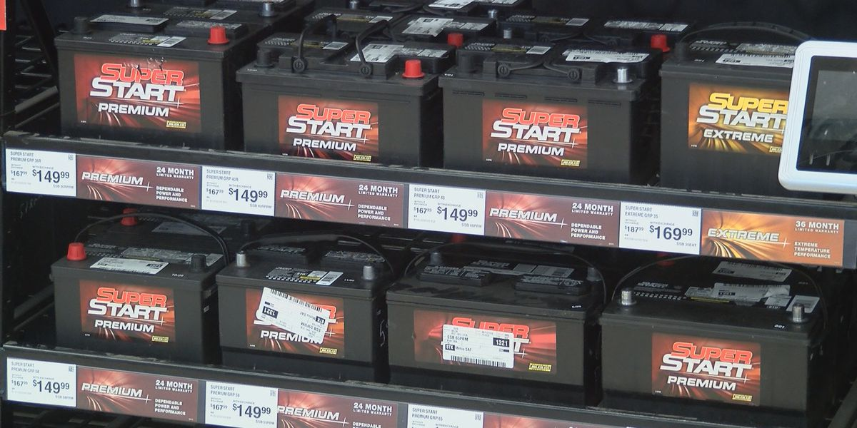 Car batteries selling fast during winter weather