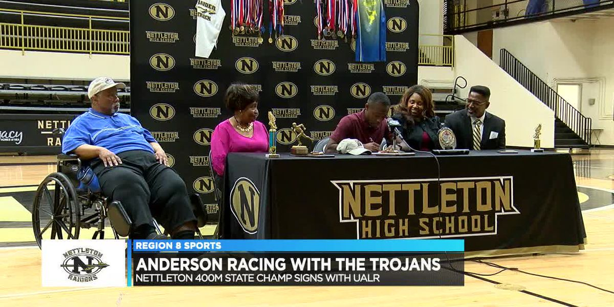 Nettleton track standout Phillip Anderson signs with Little Rock