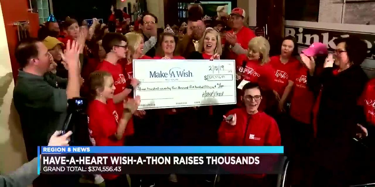 Make A Wish donation totals