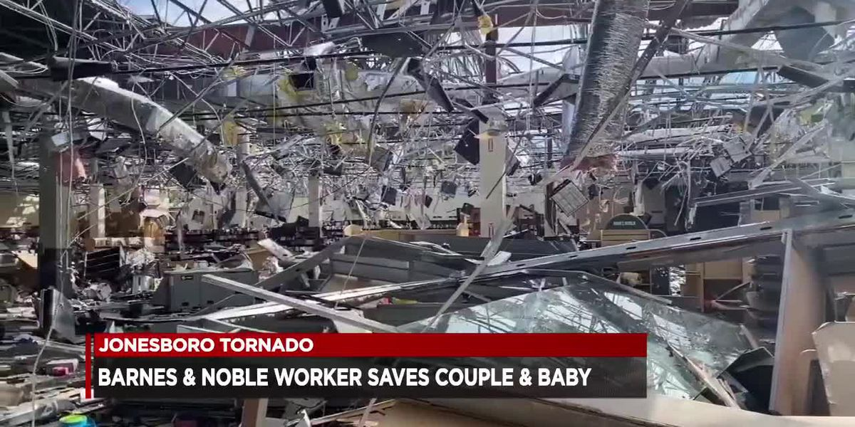 Store manager credited with saving baby, couple's lives during tornado