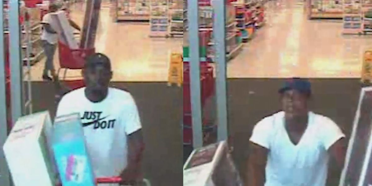 Two wanted in TV thefts from Target