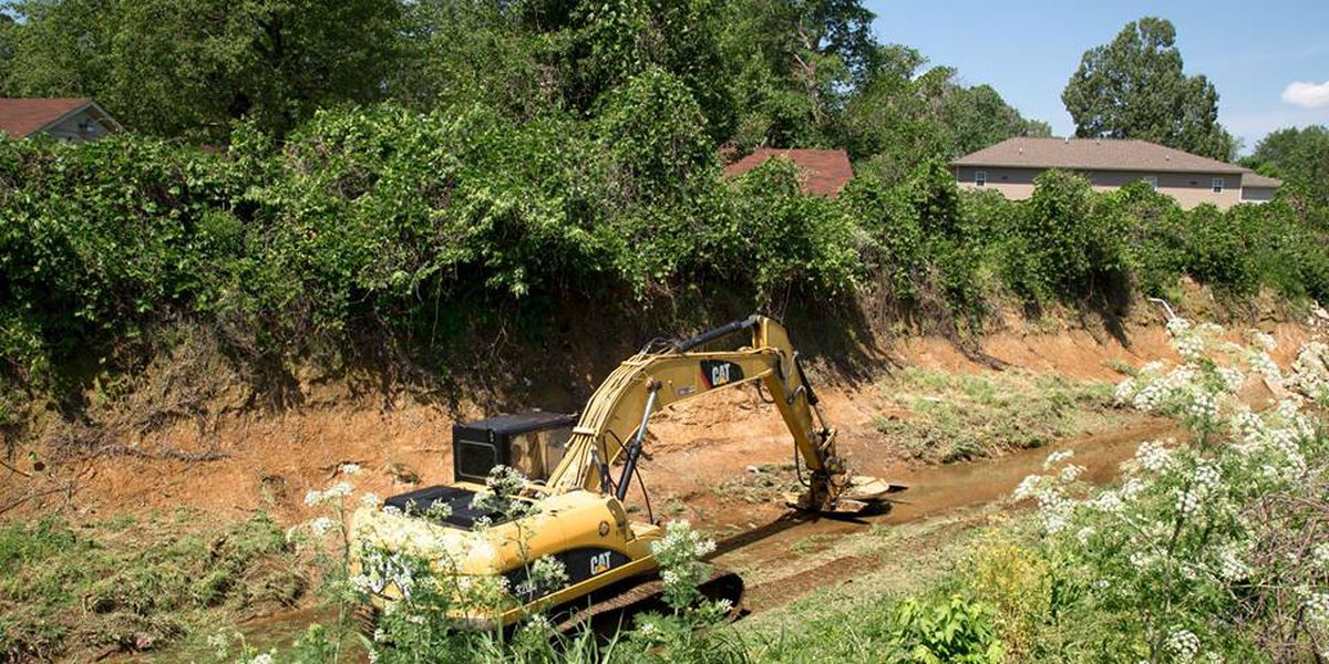 """Jonesboro clears large ditch to make city more """"flood-ready"""""""