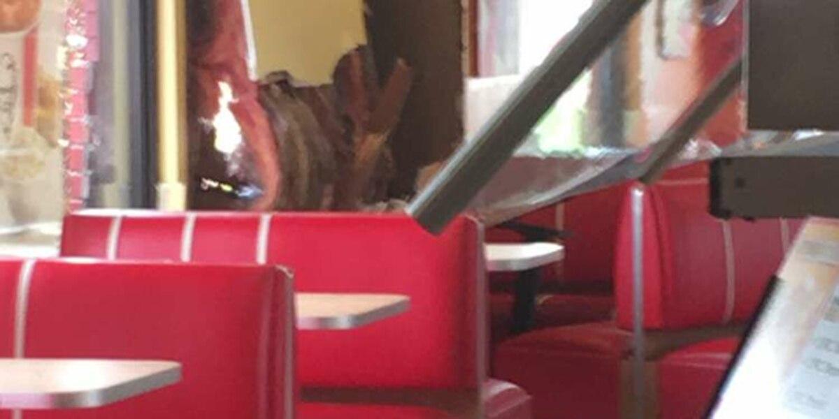 Vehicle strikes KFC, no one injured
