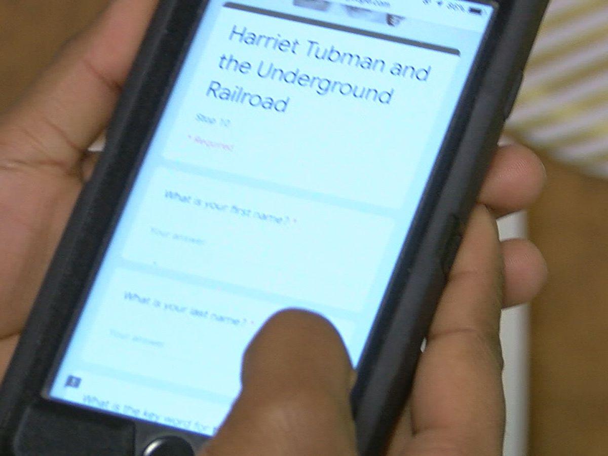 Students create QR code scavenger hunt for Black History Month
