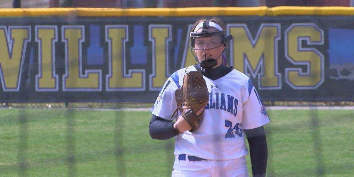 Williams Baptist softball splits doubleheader with #22 Freed-Hardeman