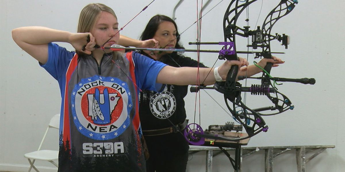 Mother bonds with daughter through archery, builds a team, and helps others
