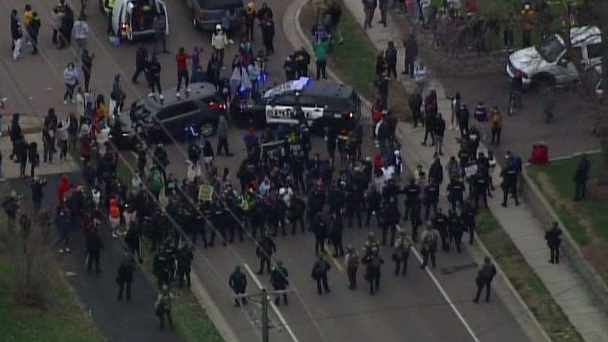 Protests erupt after man shot by Minnesota officer in traffic stop crashes, dies