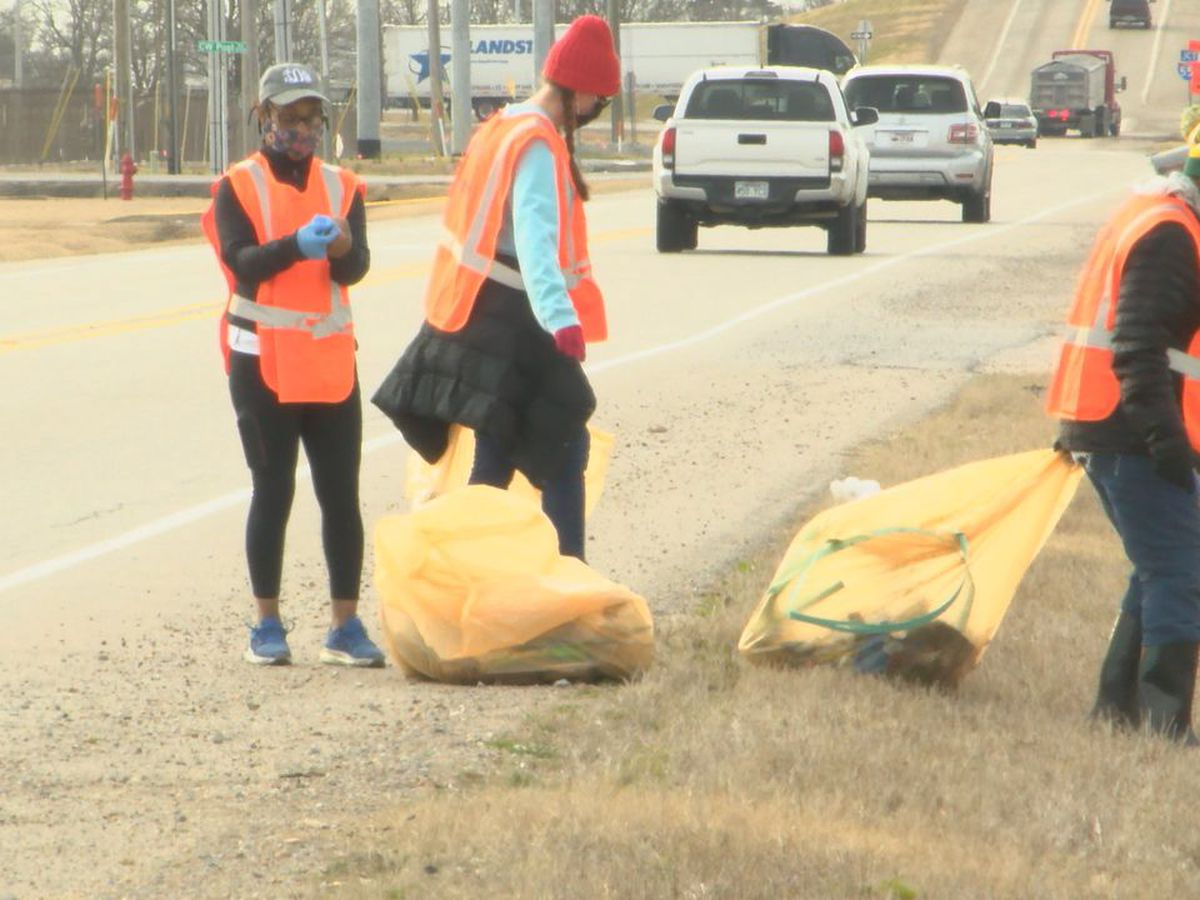 Community members help clean up Dr. Martin Luther King, Jr. Drive