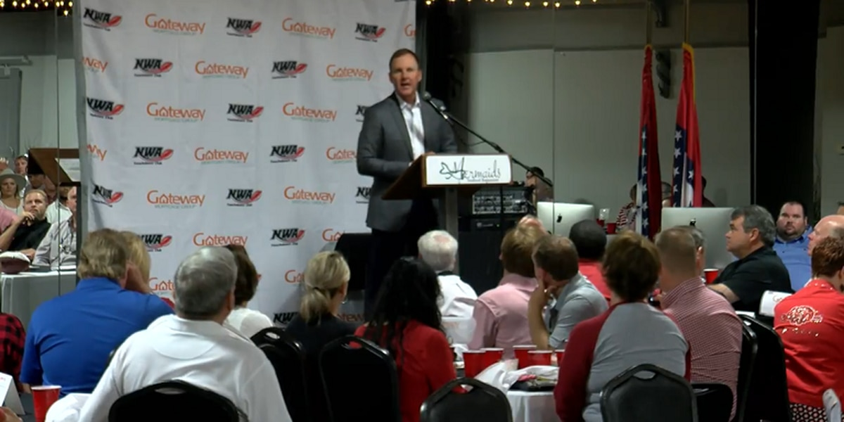 Chad Morris visits Northwest Arkansas Touchdown Club