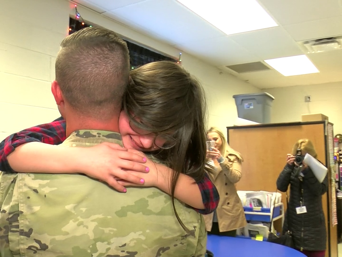 Mid-South soldier surprises daughter, returns early after deployment