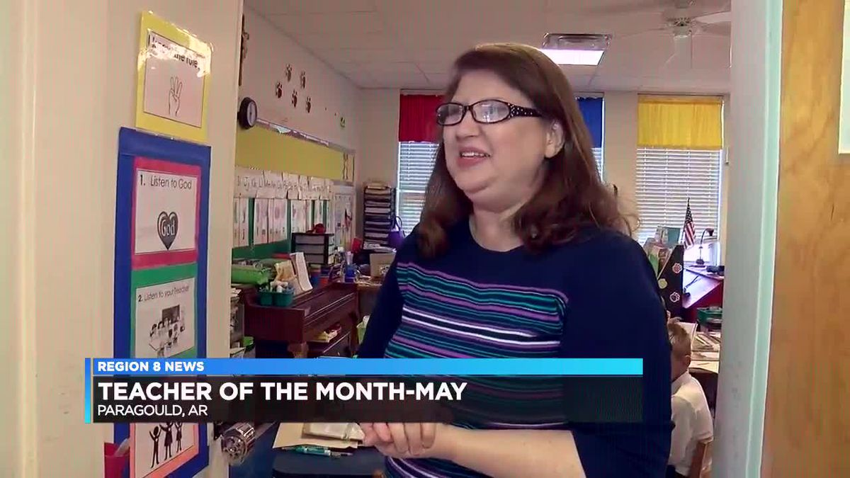 Region 8 crews surprise May's 'Teacher of the Month' in Paragould