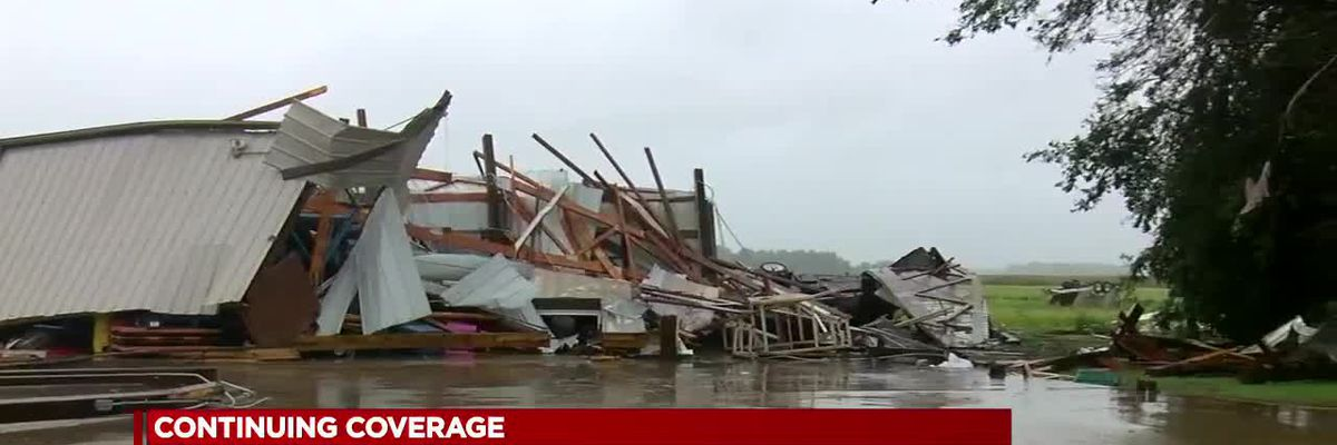 Church, homes damaged by possible tornadoes, thousands without power