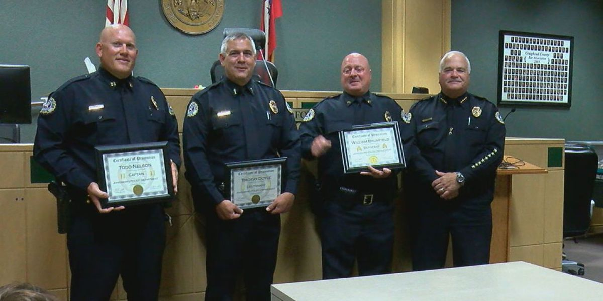 Community gathers to celebrate three outstanding officers