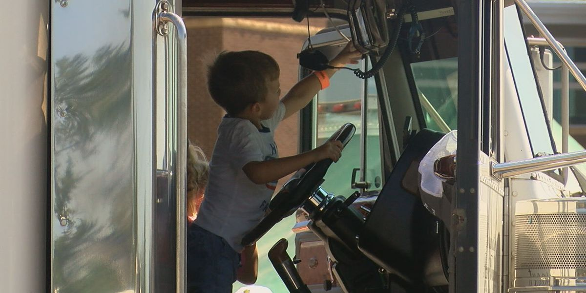 Big trucks fascinate kids at Touch-A-Truck event