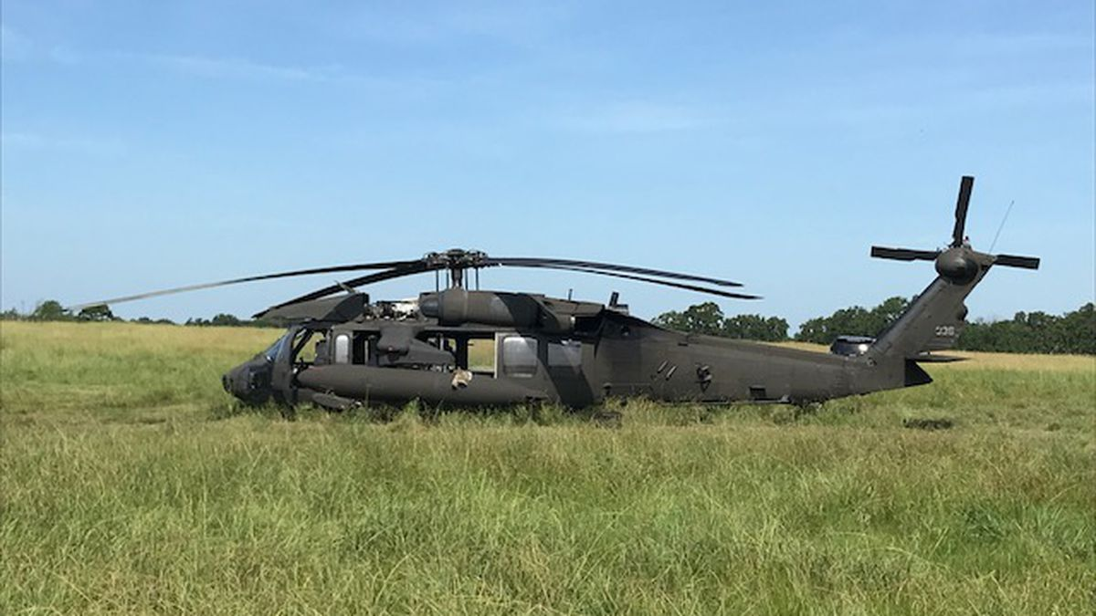 Owners of pasture said Black Hawk couldn't have landed in a better location