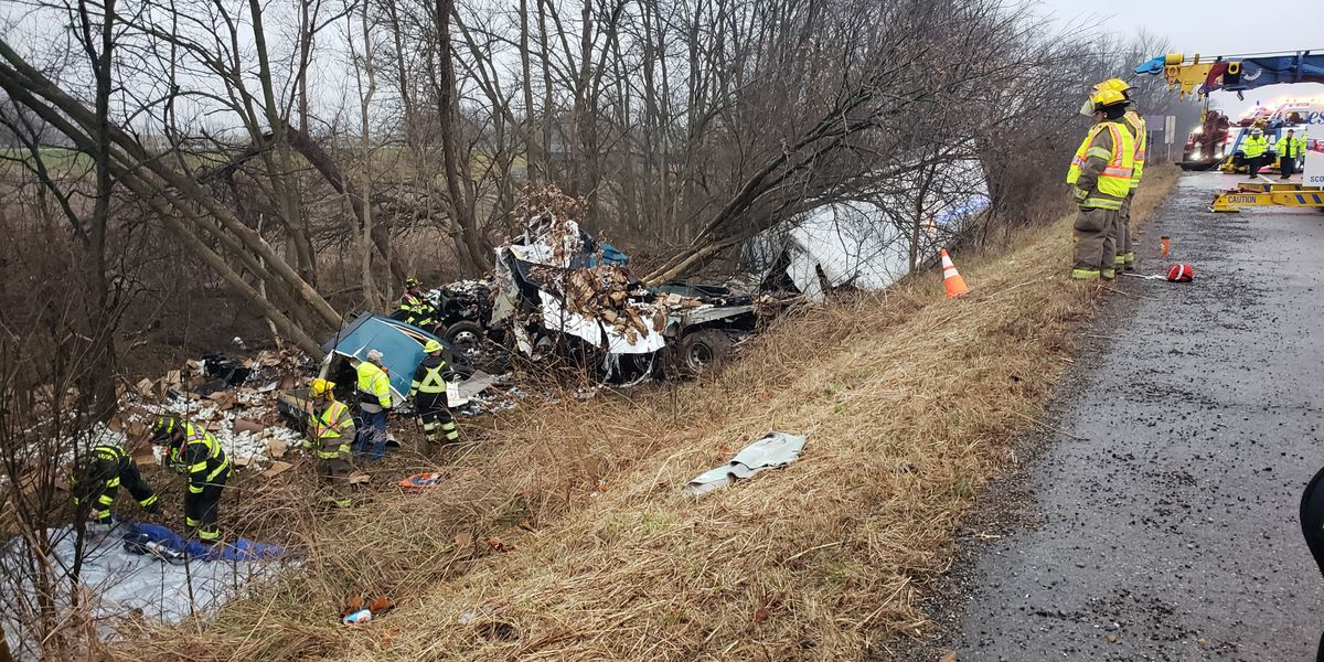 Driver dies in semi tractor trailer crash on I-55 in Scott Co., Mo.