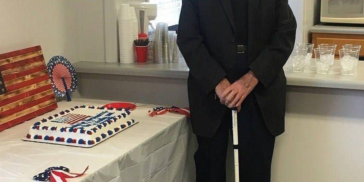 Lake City Hall hosts birthday celebration for Purple Heart Veteran