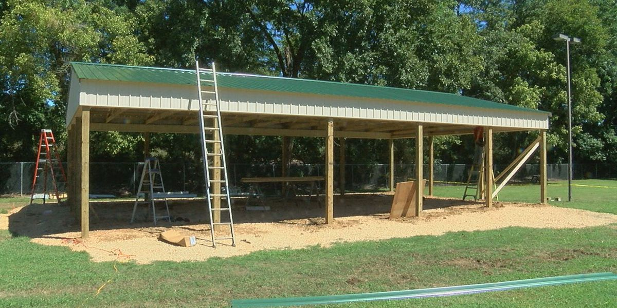Loberg Park's new pavilion almost finished