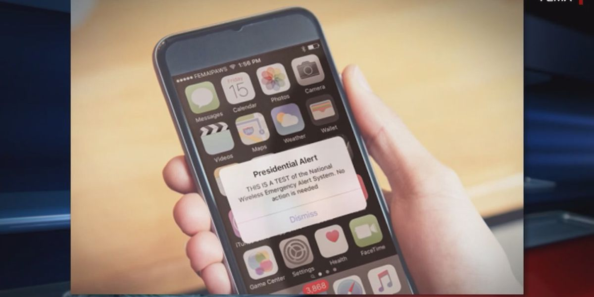 President to test text alert system in October