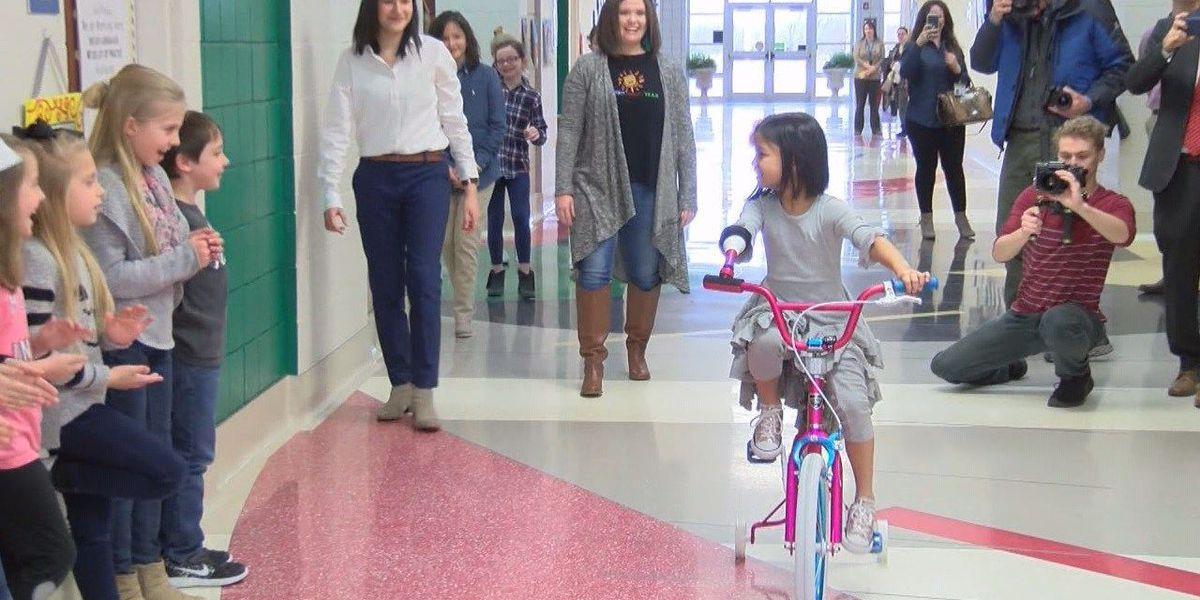 Springdale students give girl special bike