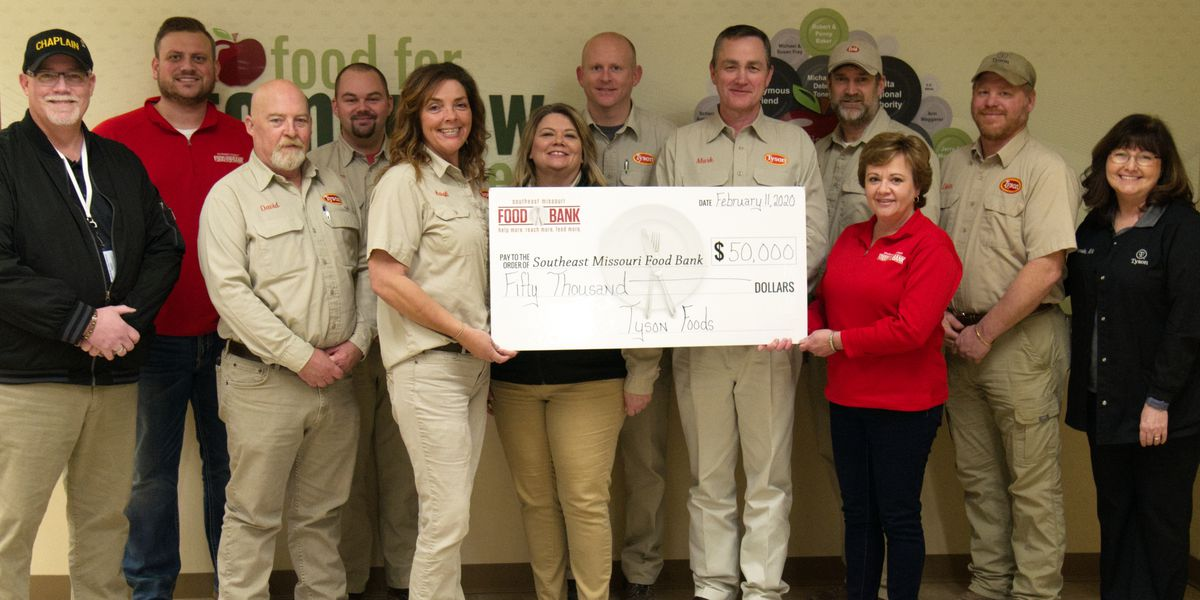 Southeast Missouri Food Bank receives $50,000 grant from Tyson Foods