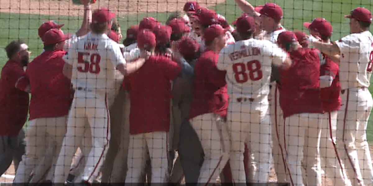 Kjerstad hits walk-off homer to lift Hogs over South Alabama