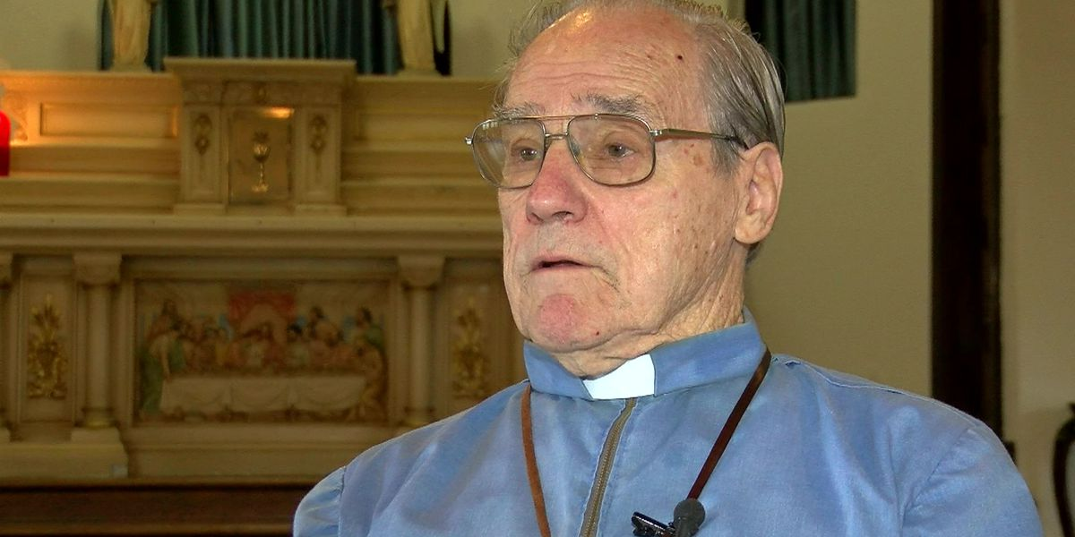 Teacher saves priest after he passes out while speaking