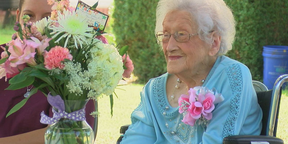 Woman turns 100, community hosts parade for her
